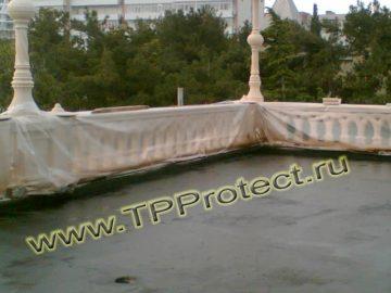 Крыша, покрытая жидкой резиной
